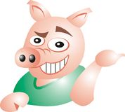 Sarcastic pig Royalty Free Stock Photography