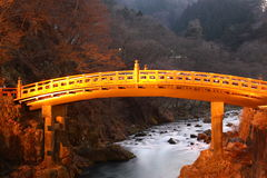 Sarced bridge. Sacred Bridge of Nikko is one of the landmarks of Nikko, Japan -- a  city 2 hours by train from Tokyo where the most famous shogun of Japan is Royalty Free Stock Photography