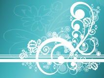 Sarcelle d'hiver abstraite florale illustration libre de droits