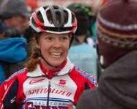 Sarcelle d'hiver Stetson-Lee - pro coureur de Cyclocross de femme Photographie stock libre de droits