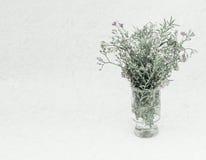 Sarclez les fleurs dans le style de couleur de vintage sur la texture de papier de mûre Photos stock