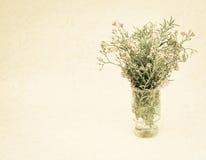 Sarclez les fleurs dans le style de couleur de vintage sur la texture de papier de mûre image stock