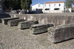 Sarcofagi di pietra di tassi Fotografia Stock