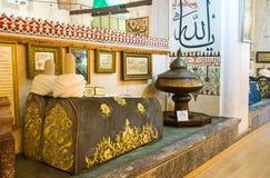The sarcofagi in Mevlana Mausoleum Stock Image