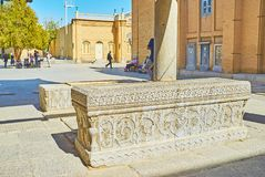 Sarcofagi na catedral de Vank, Isfahan, Irã Foto de Stock