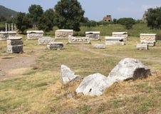 Sarcofagi scavati, Ephesus Immagini Stock