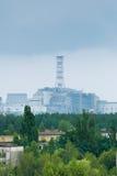 Sarcofago della quarta unità dell'energia nucleare di Cernobyl Immagini Stock Libere da Diritti