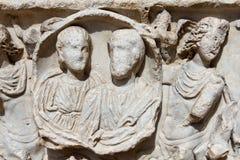 Sarcofago romano Immagini Stock