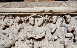 Sarcofago romano Immagini Stock Libere da Diritti