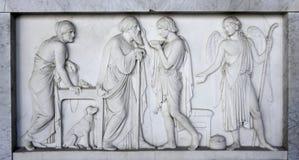 Sarcofago romano antico Immagini Stock Libere da Diritti