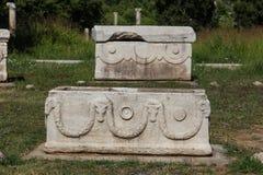 Sarcophage dans la ville antique d'Ephesus Photographie stock