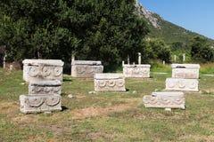 Sarcophage dans la ville antique d'Ephesus Photos libres de droits