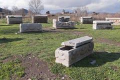 Sarcophages antiques Photographie stock libre de droits