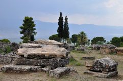 Sarcophagi, Greco-Roman and Byzantine Hierapolis Royalty Free Stock Photography