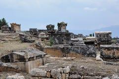 Sarcophagi, Ancient Hierapolis, Turkey Royalty Free Stock Images