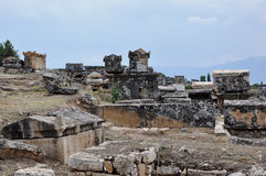 Sarcophagi, Ancient Hierapolis, Turkey Royalty Free Stock Images