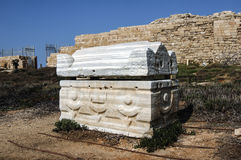 Sarcophagi - coffin made of stone, Caesarea Stock Images