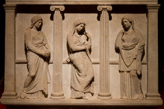 Sarcophagus плача женщин Стоковое Изображение RF