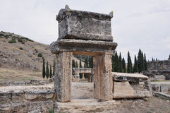 Sarcophagus - Ancient Greco-Roman and Byzantine city of  Hierapolis Royalty Free Stock Photos