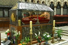 Sarcophagus of Blessed Aloysius Stepinac in Zagreb Cathedral Stock Images