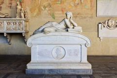 Sarcophagus in the Camposanto - Pisa Stock Photography