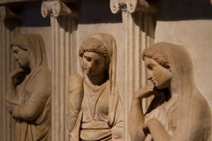 Sarcophagus Of The Crying Women Royalty Free Stock Image