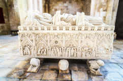 Sarcophagus of Ines de Castro Royalty Free Stock Images