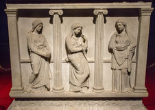 Sarcophagus of the mourning women Stock Image
