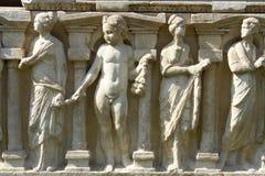 Sarcophagus Relief from Byzantine. Iznik Museum (Iznik Turkey royalty free stock images