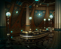 The Sarcophagus Room, 3d CG Stock Photography