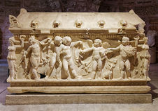 Sarcophagus at Side Museum Royalty Free Stock Photo