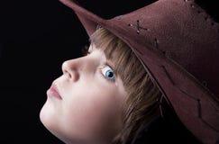 A sarda bonito enfrentou o menino Imagens de Stock Royalty Free