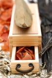 Sarda secca ed alimenti secchi tipici per il giapponese Fotografie Stock