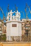 Sardana Monument. Calella. Catalonia, Spain Royalty Free Stock Image