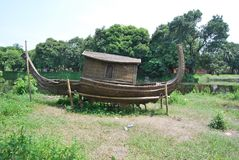 Sardar Bari geroepen Isa Khan ` s Bari in Sonargaon royalty-vrije stock afbeelding