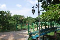 Sardar Bari geroepen Isa Khan ` s Bari in Sonargaon stock foto's
