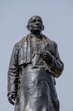 Sardar Vallbhbhai Patel Statue. Public monument statue of Sardar Vallabhbhai Patel (1875 - 1950) at the side of a main road in Hyderabad, India.  the barrister Royalty Free Stock Photo