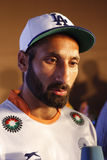 Sardara Singh, captain Field Hockey India Team World Cup 2014 Royalty Free Stock Photos