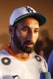 Sardara Singh, Kapitän Field Hockey India Team World Cup 2014 Lizenzfreie Stockfotos