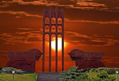Sardarapat Memorial in Armenia. Stock Photos