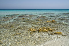 Sardegna. Beautiful Italian region, from the clear sea and white beaches, destination of world tourism royalty free stock photo