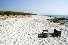 Sardegna. Beautiful Italian region, from the clear sea and white beaches, destination of world tourism stock image