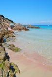 Sardegna beach. Beautiful bay at north of Sardegna Island, Italy stock image
