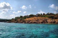 Sardegna. Blue sea in italy royalty free stock photos
