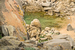 Sardegna, Cala Francesca. View of lovely beach near Santa Teresa di Gallura town, Capo Testa, Sardinia, Italy stock image