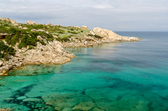 Sardegna, Cala Spinosa. View of lovely coast near Santa Teresa di Gallura town, in the North-Sardinia, Italy royalty free stock images