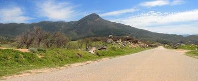 Sardegna, Capo Pecora road. Dirt road of Capo Pecora, near Buggerru, Sardinia, Italy royalty free stock photo