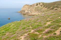 Sardegna, Capo Pecora. View of lovely coast of south Sardinia, Italy stock images