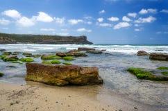 Sardegna, Carloforte, La Caletta beach. Lovely beach in the island called San Pietro, in Sardini, Italy royalty free stock image