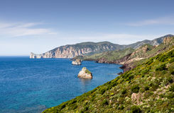 Sardegna, coast of Sulcis Royalty Free Stock Images